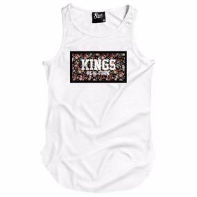Camiseta Regata Longline Kings New York Florido Floral Rosas 565e727f4b8