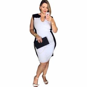 Vestido Bicolor Plus Size Modelo Julia. Afina Silhueta - Vestidos ... c2b9adc4d9b
