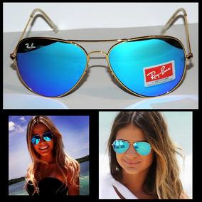 1acdc428d6645 Rayban Aviador Lente Azul Espelhada Masculino De Sol - Óculos no ...