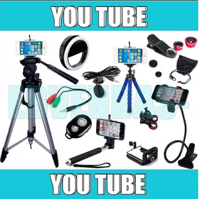 Kit Youtuber Tripé 1,80m Tripé Flexível Microfone Extensão