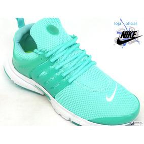 84a12845e30 Tênis Feminino Nike Air Presto Verde Água E Branco 2019