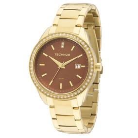 12fe33360ed Relógio Technos 2115kqy 4m 2115kqy 4m Dourado Ouro Swarovski