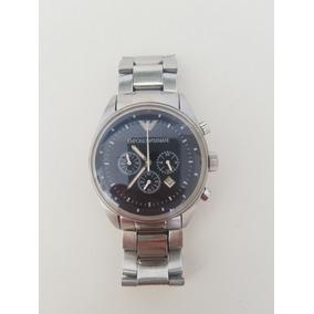 37780e52e3c Relógio Empório Armani Preto Ar0585 0585 Aço Original - Relógios De ...