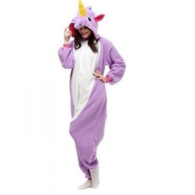 Unicórnio Pijama Kigurumi Ou Flamingo Plush Macio Com Asas