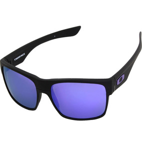Óculos Oakley Two Face Matte Black Violet Iridium Drill - Óculos no ... 9dae403924