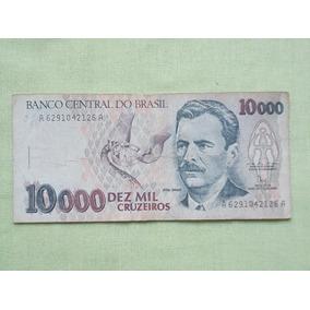 Nota Cedula 10000 Cruzeiros Vital Brazil Cedula Usada