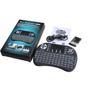 Mini Teclado Wireless Touch Pad Android Tv Box Smart Com Led