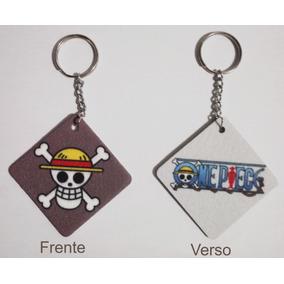 Chaveiros One Piece - Estampa Frente E Verso (3 Unidades)