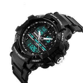 Relógio A Prova Dagua Esportivo Analógico E Digital Preto