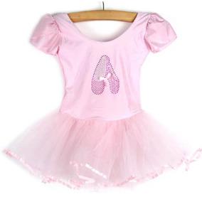 Vestido Infantil Collant Bailarina Ballet Carnaval 6-7 Anos