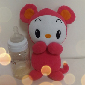 Porta Mamadeira Brinquedo Bebe Capa Ratinha Rosa