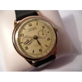 Reloj Cronografo Hombre Antiguo Caja De Oro 18k 750 Racing