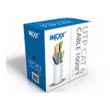 Cable Utp Cat 5, 6 Imexx Blanco.50 Mtrs