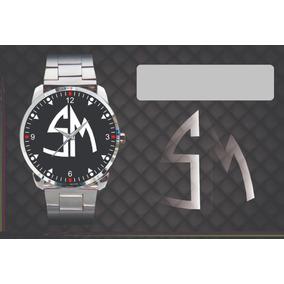 359b837143a Relógio De Pulso Personalizado Logo Santa Madilte Sm Antigos