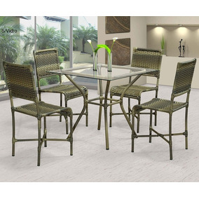 ab2d92e55 Mesa Em Fibra Sintetica 4 Cadeiras - Cozinha no Mercado Livre Brasil