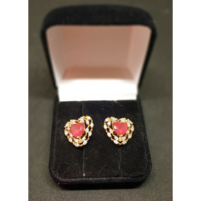 Brinco Feminino Luxo Pedra De Cristal Banhado Ouro 18k Unid