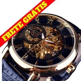 d6203831847 Relogio Mecanico Dourado Skeleton - Relógios De Pulso no Mercado ...