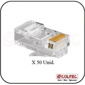 50 Unid. Lote Conector Rede Local Rj 45 Rj45 Cabo Lan Nivel5