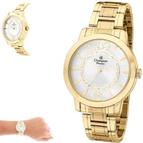 7223b698af5 Relógio Champion Feminino Grande Dourado P  D água Ch24259h. 30. 24  vendidos · Relogio Aqua Aq-91 Retro ...