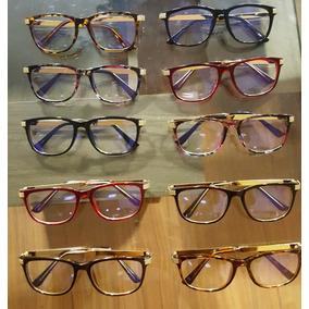 019c69a0c68b5 Armação Óculos De Grau Acetato Quadrada Feminino Haste Metal