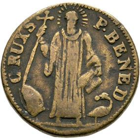 Rara Medalha De S. Benedito J. Labre (vade Retro) Séc. Xviii