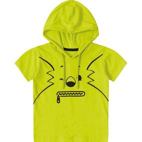 Camiseta Tigor T. Tigre Com Capuz Bebê Menino por Clube Marisol dc5e86208507f