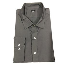Camisa Slim Fit Caballero Gris 3xl - Peaceful Clothing