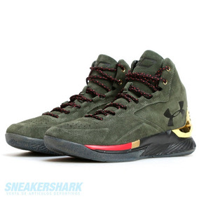 Under Armour Sc Curry 1 Green Suede Gamusa #28.5