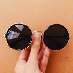 Óculos De Sol Redondo Round Circle Preto Outras Marcas - Óculos no ... f41fdf6428