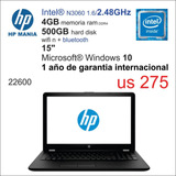 Notebook Hp Dc/4gb/500hd/14 Español