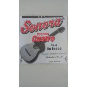 Juego De Cuerdas Para Cuatro Sn-4 Sonora