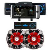 Estereo Para Carro Bluetooth/mp3 Qfx Con Bocinas