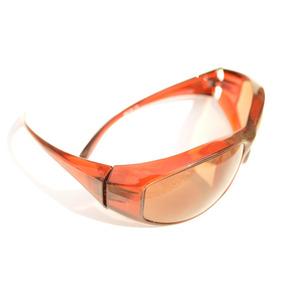Óculos Casual Marrom Unissex Extenso Largo F68 7730f4d911