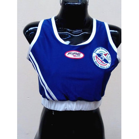 e714446493 Top Deportivo Fire Sports Sport Bra Box Traje Azul