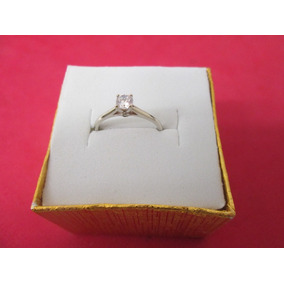 Anillo Solitario Compromiso Oro 10 K Oro Blanco O Amarillo.