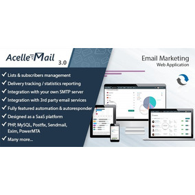 Aplicativo Web Acelle Email Marketing