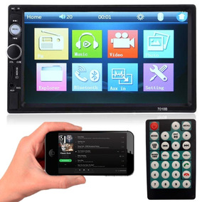 Dvd 2 Din Multimidia Bluetooth Usb Sd Tela 7 Hd Auto