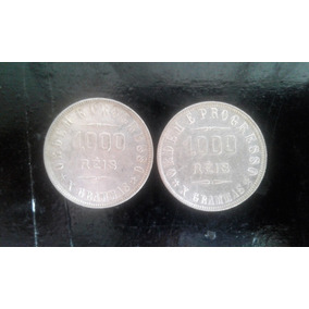 Arremate Moeda 1908 E 1909 - 1000 Reis Prata Sb/fc - X Grama