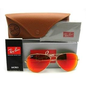 Oculos Rayban Aviador Espelhado Vermelho - Calçados, Roupas e Bolsas ... 563369fbdc