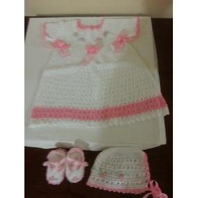 Vestido Para Recién Nacidos Tejidos A Mano