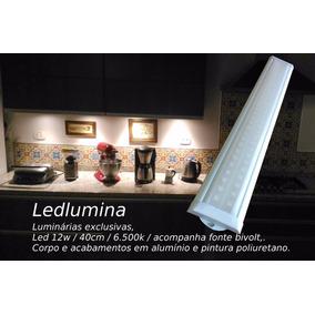 Luminária P/ Bancada, Armário E Coz 12w / 40cm - Led