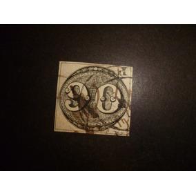 Brasil Império Selo 3 - 90 Réis - Usado E Perfeito L - 4305