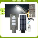 Reflector Lampara Led Solar 90w Para Poste Alumbrado Publico