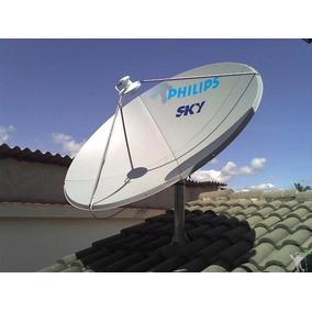Antena De 90 Ku Com Enorme Ganho De Sinal