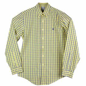 Camisa Brooks Brothers Plaid Y&b Talla M