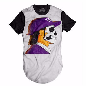 Camisa Oversized Asap Rock Longline Swag Blusa Skull ab13bad5356