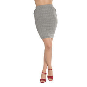 Falda Dama Cuadros Casual Moda Formal Vestir