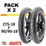 Combo X 2 Cubiertas 275-18 Y 90/90-18 Pirelli Super City