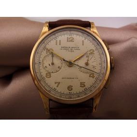 Relógio Masculino Natalis Watch Cronografo Em Ouro J12599