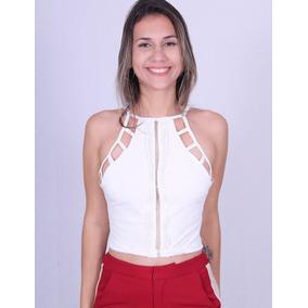 Cropped Com Tiras Lilas Chique 10813 - Asya Fashion